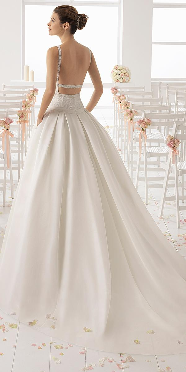 aire barcelona wedding ball gown backless modest 2018