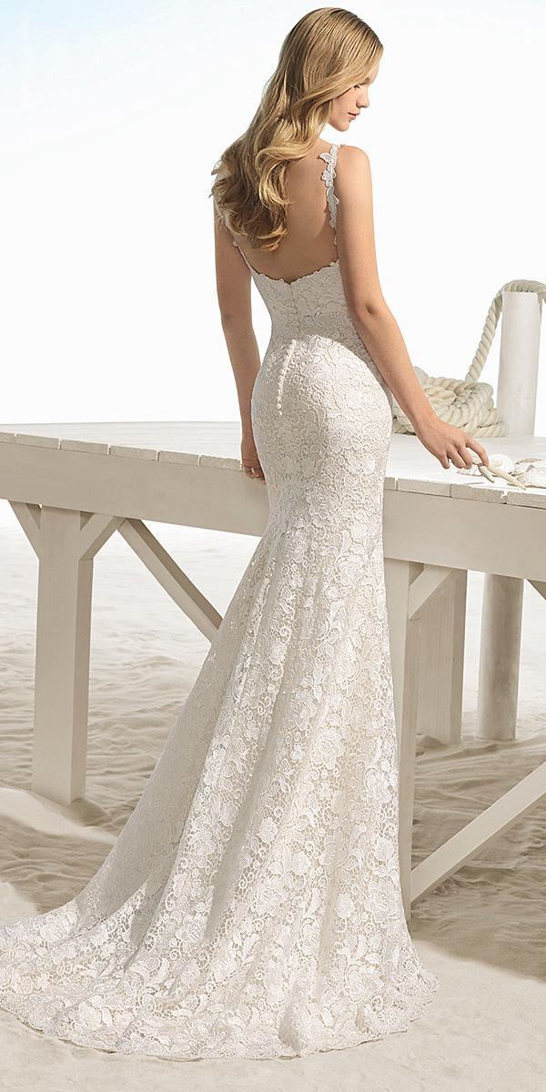 aire barcelona wedding dresses beach mermaid open back full lace 2018
