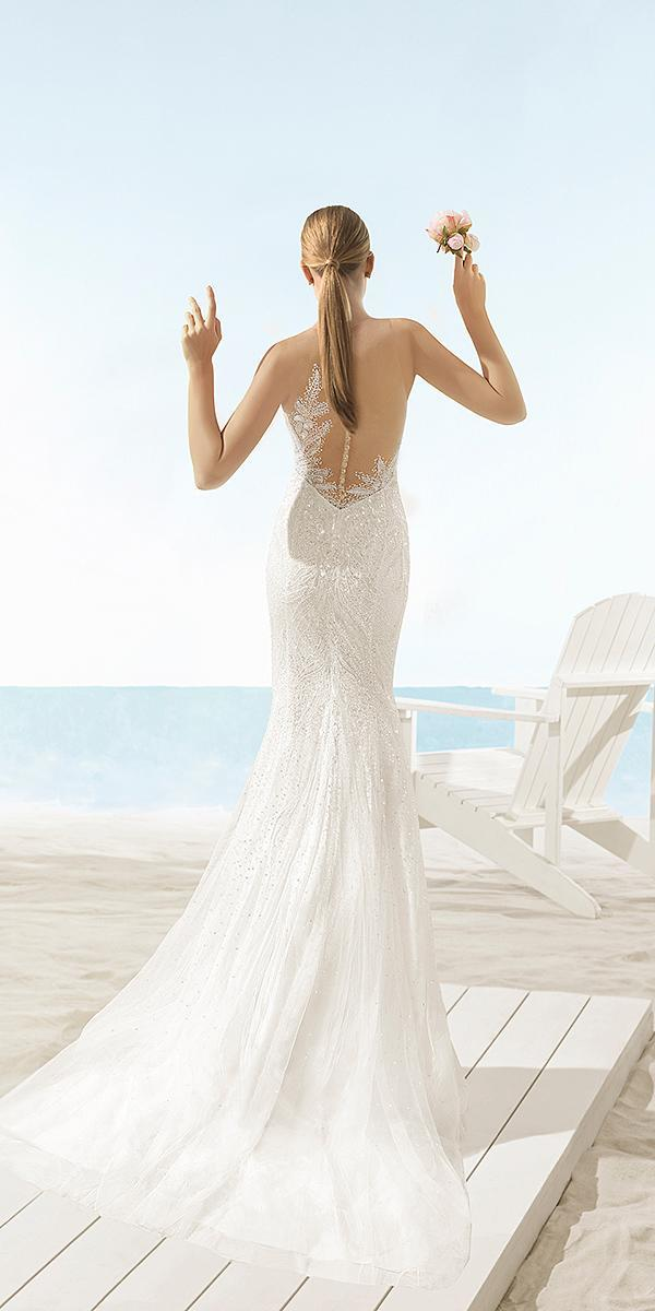aire barcelona wedding dresses mermaid sequins with buttons 2018