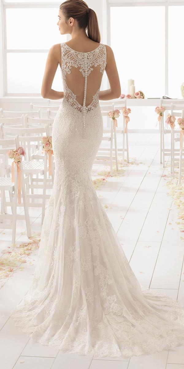 aire barcelona wedding dresses open back lace buttons 2018