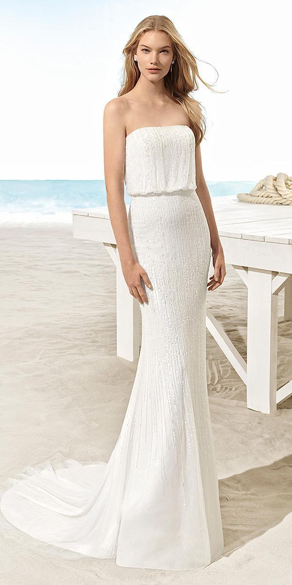 aire barcelona wedding dresses sheath straight across modest romantic 2018