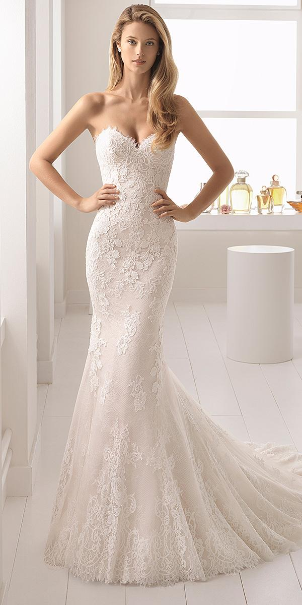aire barcelona wedding dresses sweetheart strapless full lace 2018