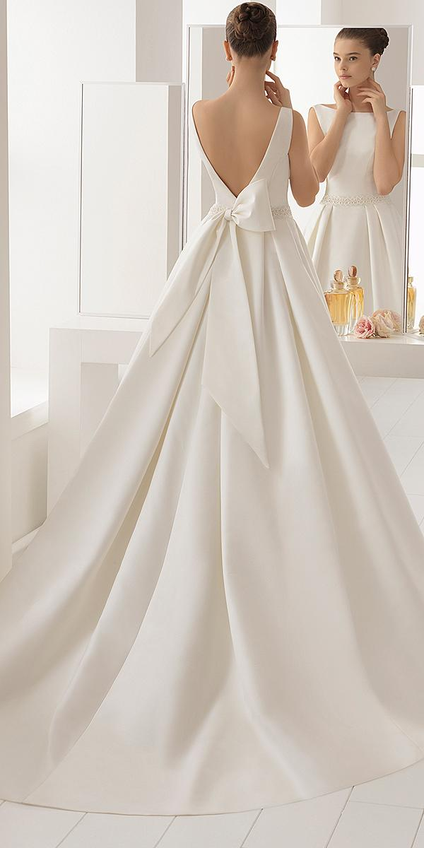 aire barcelona wedding dresses v back with bow modest 2018
