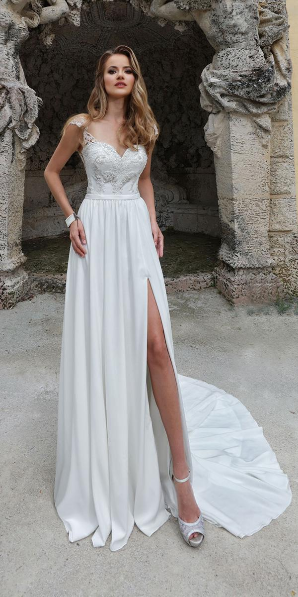 ashley justin bride wedding dresses a line illusion neckline cap sleeves summer