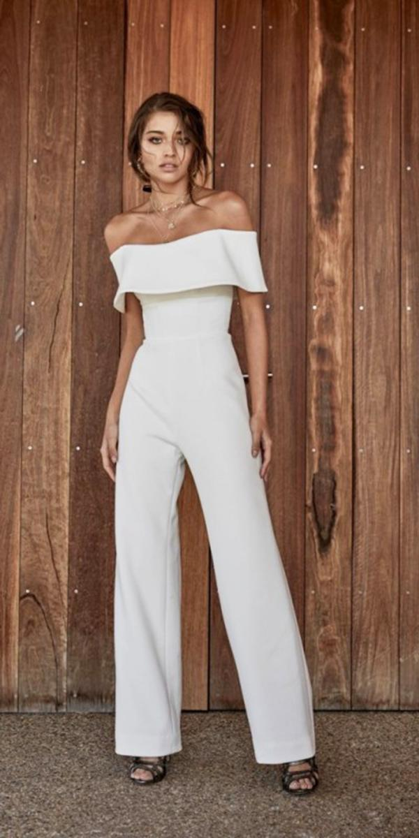 chosen wedding dresses jumpsuits straight across simple 2018 modern