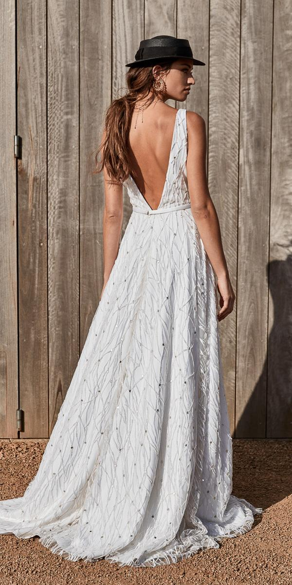 chosen wedding dresses rustic a line v back barn 2018