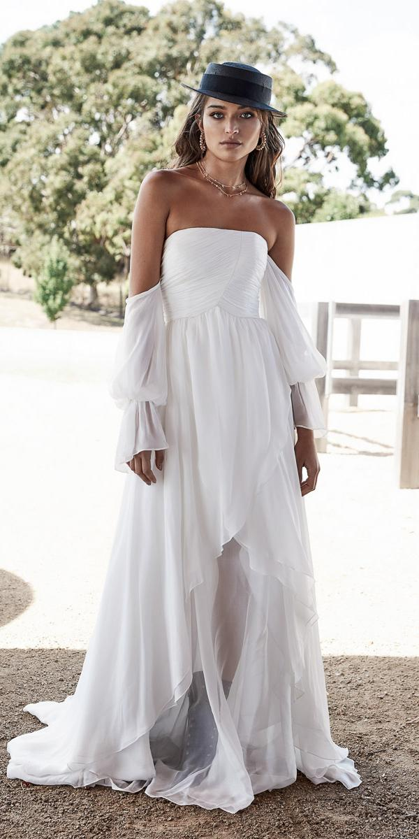 chosen wedding dresses straight across simple 2018 modern