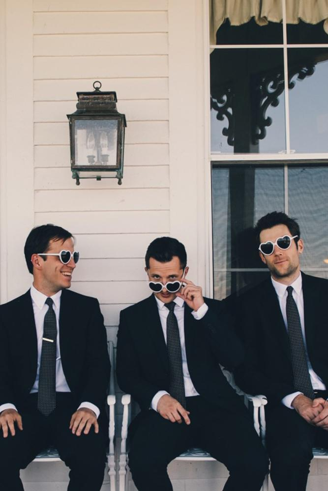 groomsmen attire classic black jackets with tie katie slater photography