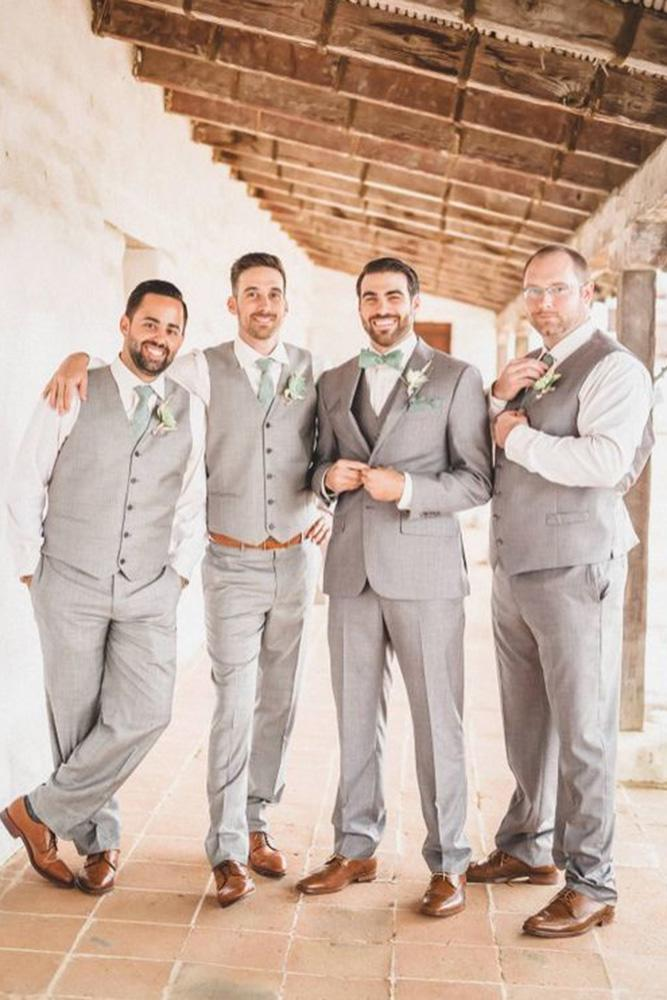 groomsmen attire light grey waistcoats santa barbara photographe