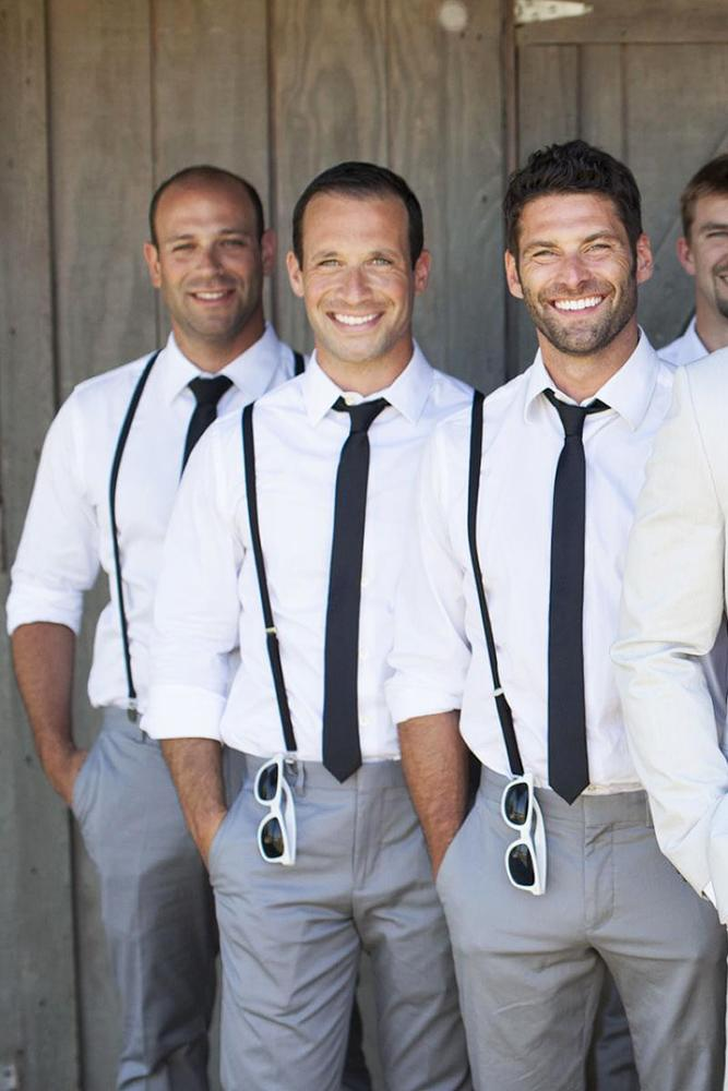 groomsmen attire rustic with black tie and suspenders shaun skyla walton