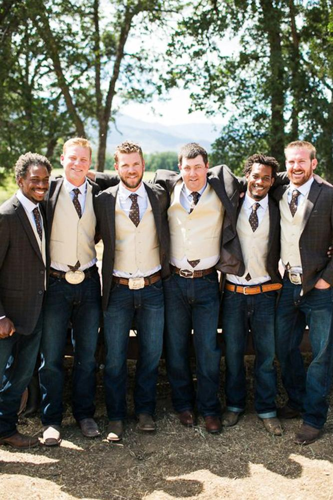 groomsmen attire rustic with jacket brown tie kelly boitano