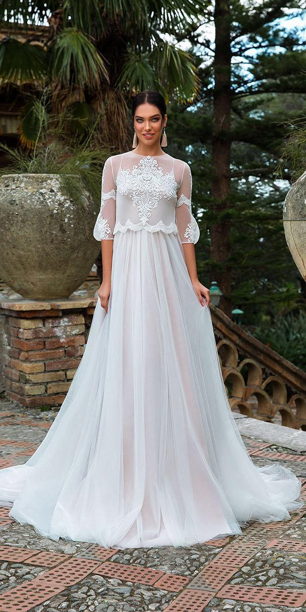 innocentia wedding dresses a line with cape lace 2019