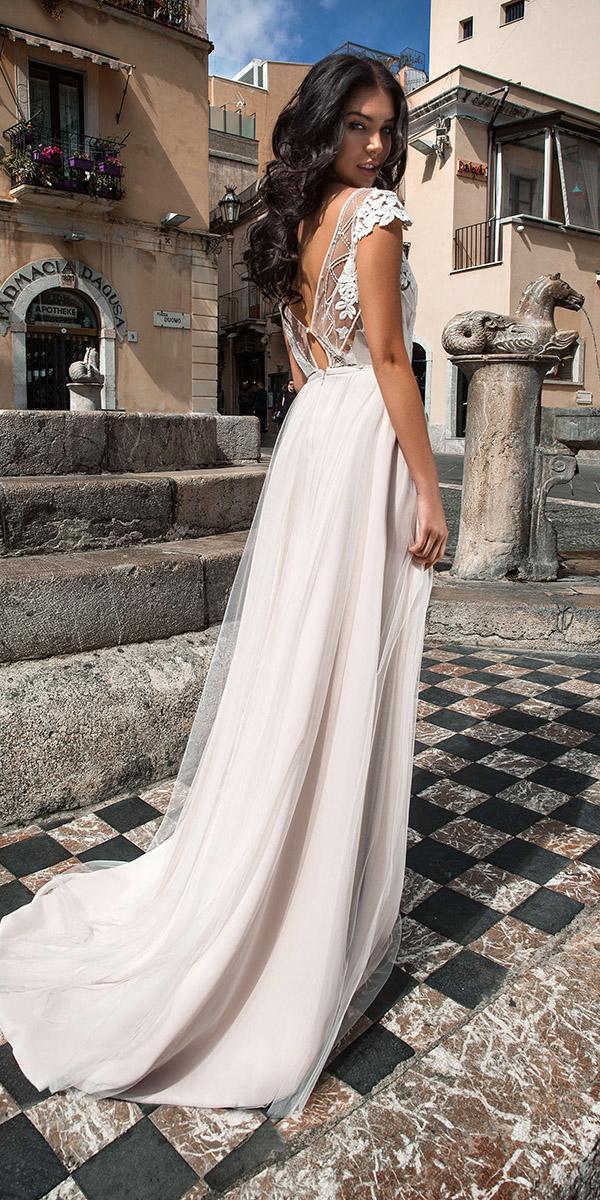 innocentia wedding dresses sheath with cap sleeves lace romantic 2019