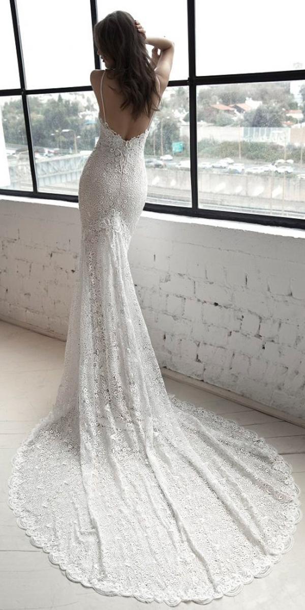 julie vino 2019 wedding dresses sheath low back spaghetti straps with train
