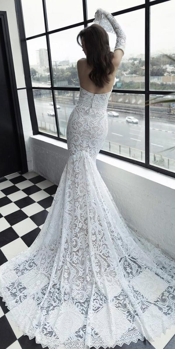 julie vino 2019 wedding dresses trumpet lace low back with detached sleeves