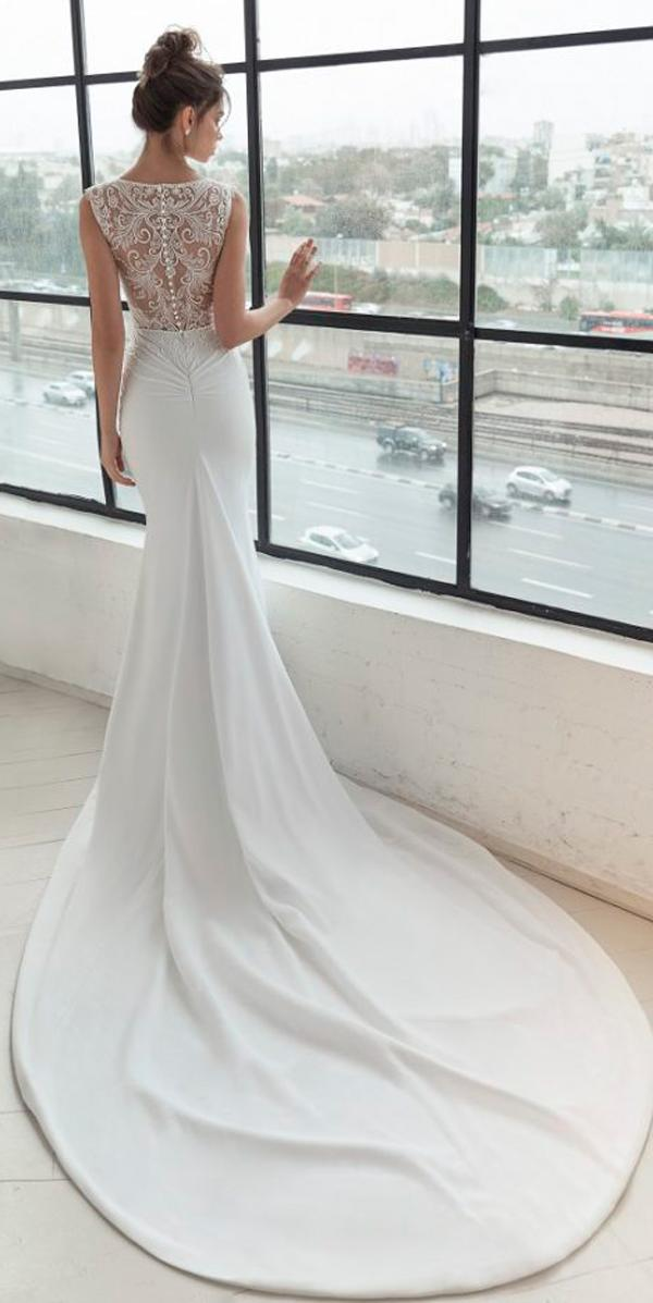 julie vino 2019 wedding dresses trumpet with lace backless bateau sleeveless with train
