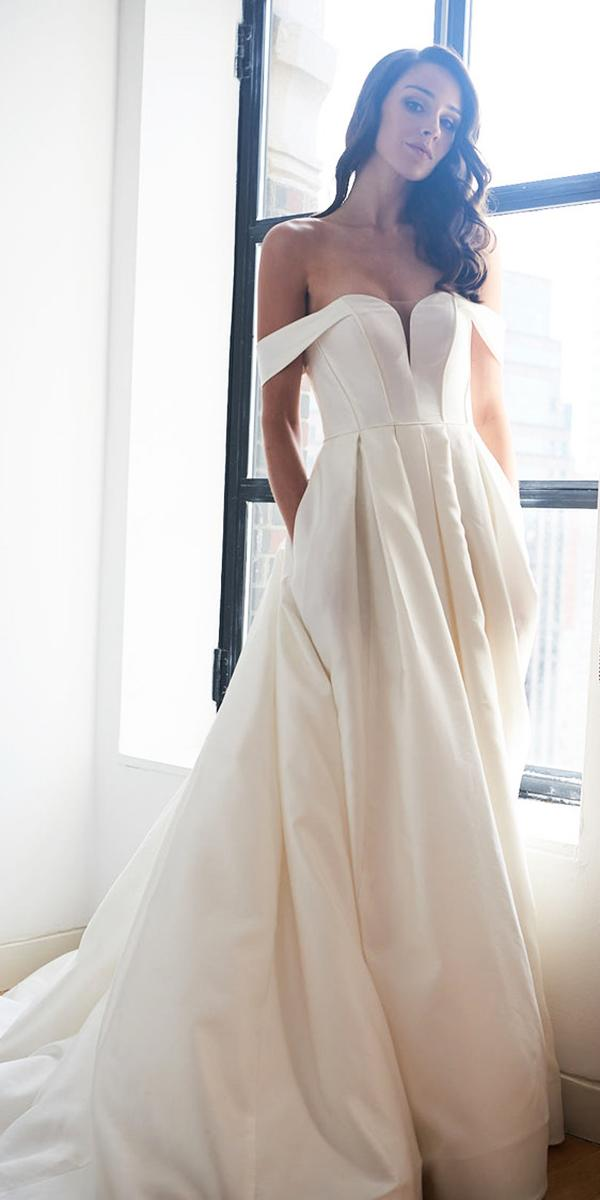 kelly faetanini wedding dresses ball gown off the shoulder simple 2018
