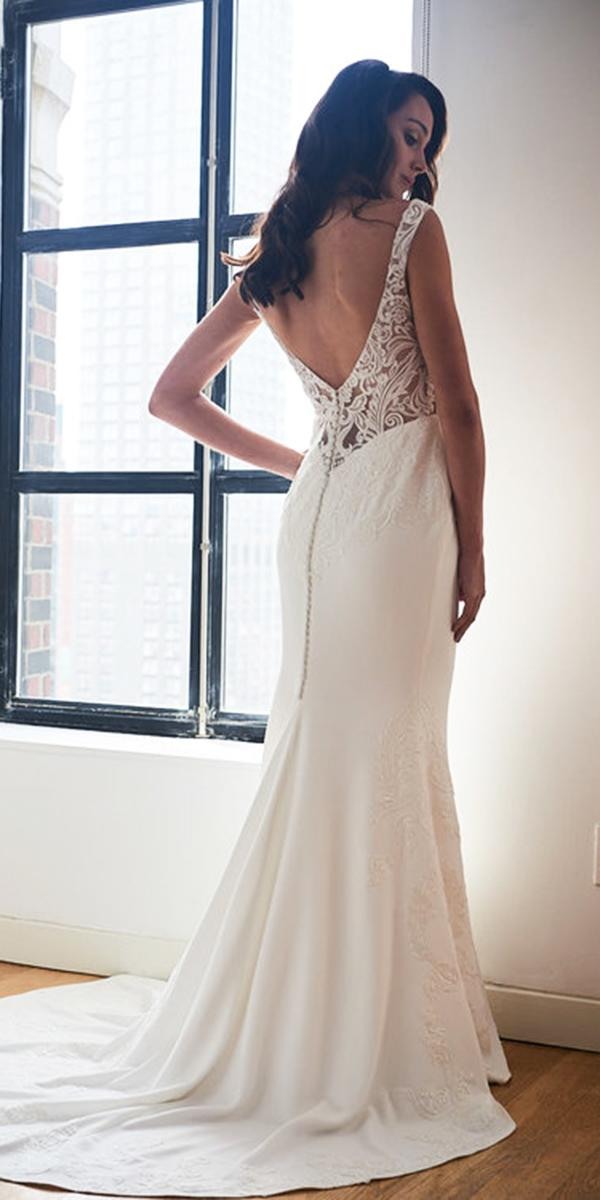 kelly faetanini wedding dresses sheath low back lace with buttons