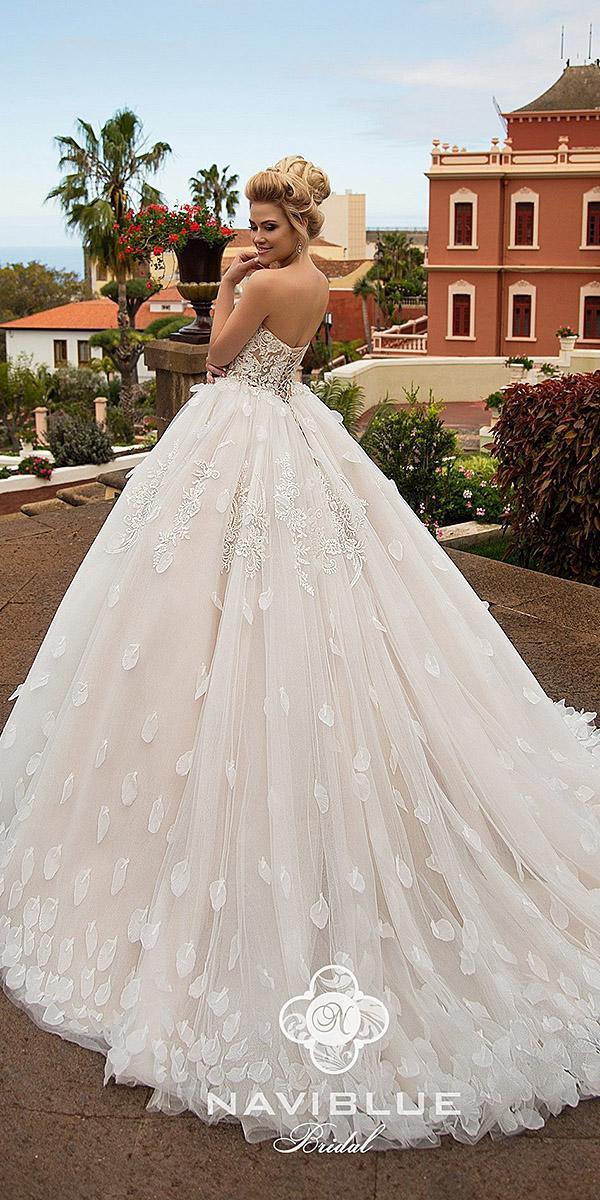naviblue bridal wedding dresses ball gown 3d floral 2018