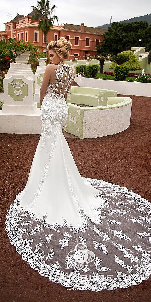 naviblue bridal wedding dresses mermaid tattoo effect back with buttons