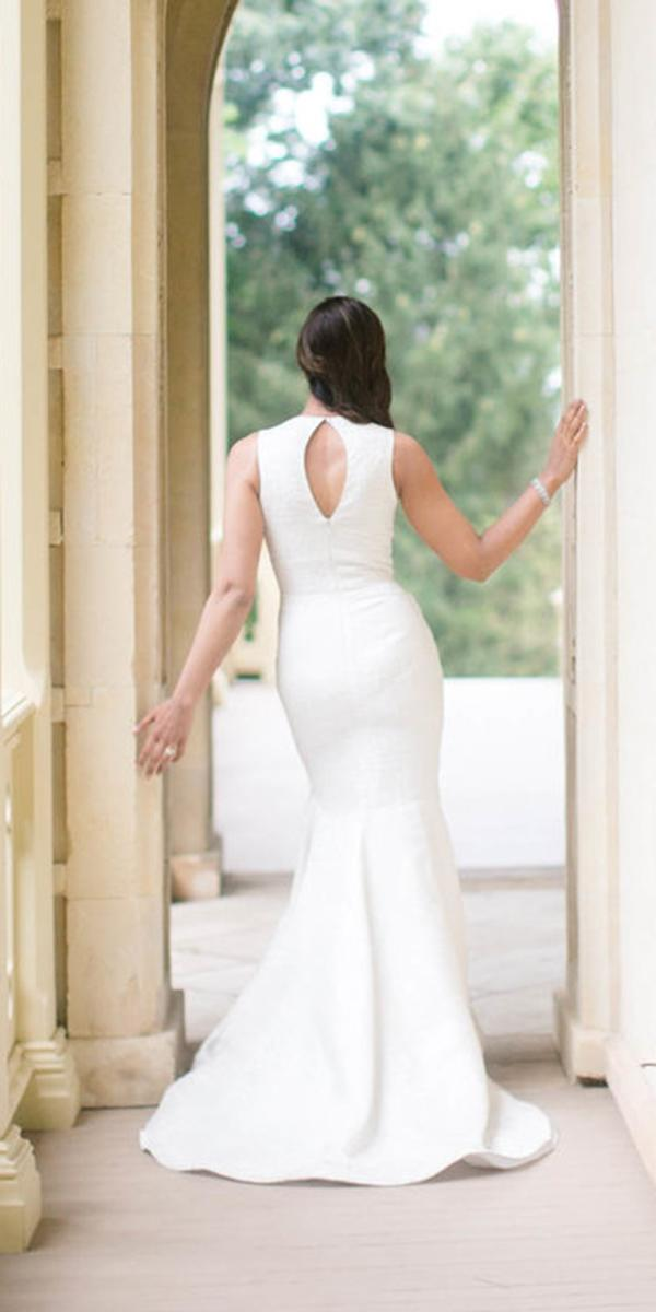 rebecca schaoneveld wedding dresses fit and flare open back simple 2018