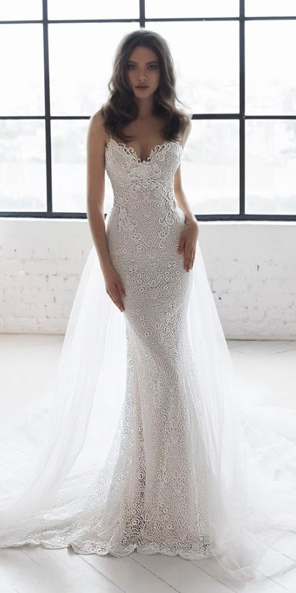 sheath lace sweetheart neck spaghetti straps with capes julie vino 2019 wedding dresses