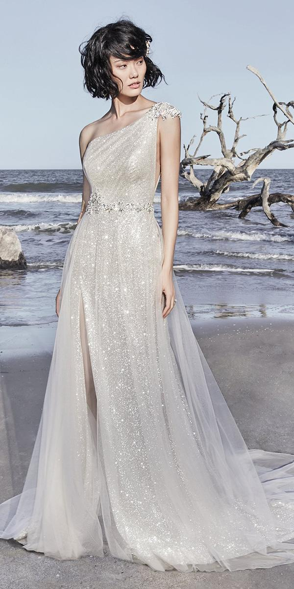 sottero and midgley wedding-dresses a line one shoulder neckline beaded belt