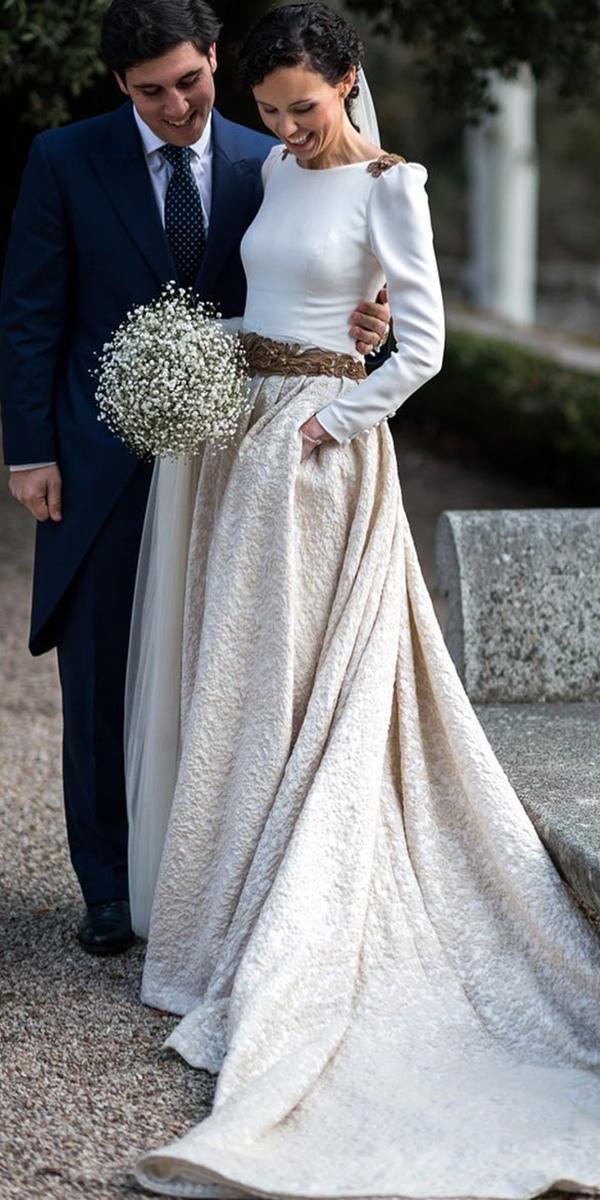 vintage wedding dresses with sleeves modest beatriza lvaro novias