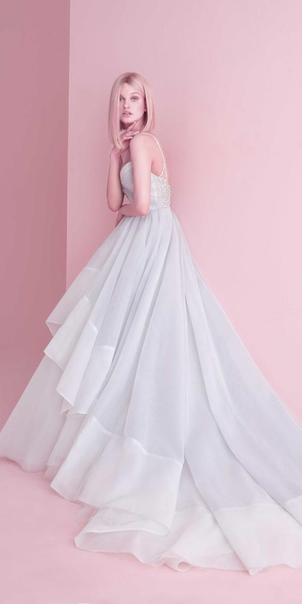 wedding dresses 2019 a line with straps blue accents hayley paige