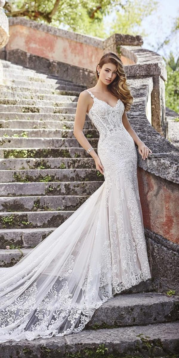 wedding dresses 2019 sheath with straps full lace sexy martin thornburg