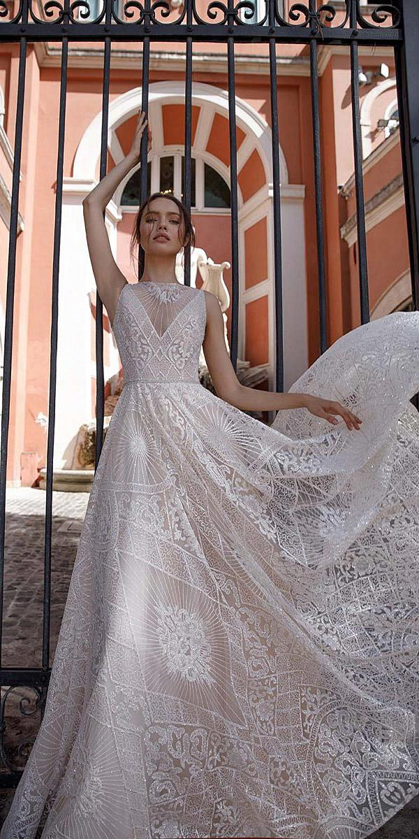 birenzweig wedding dresses a line sleeveless lace embellisment 2018