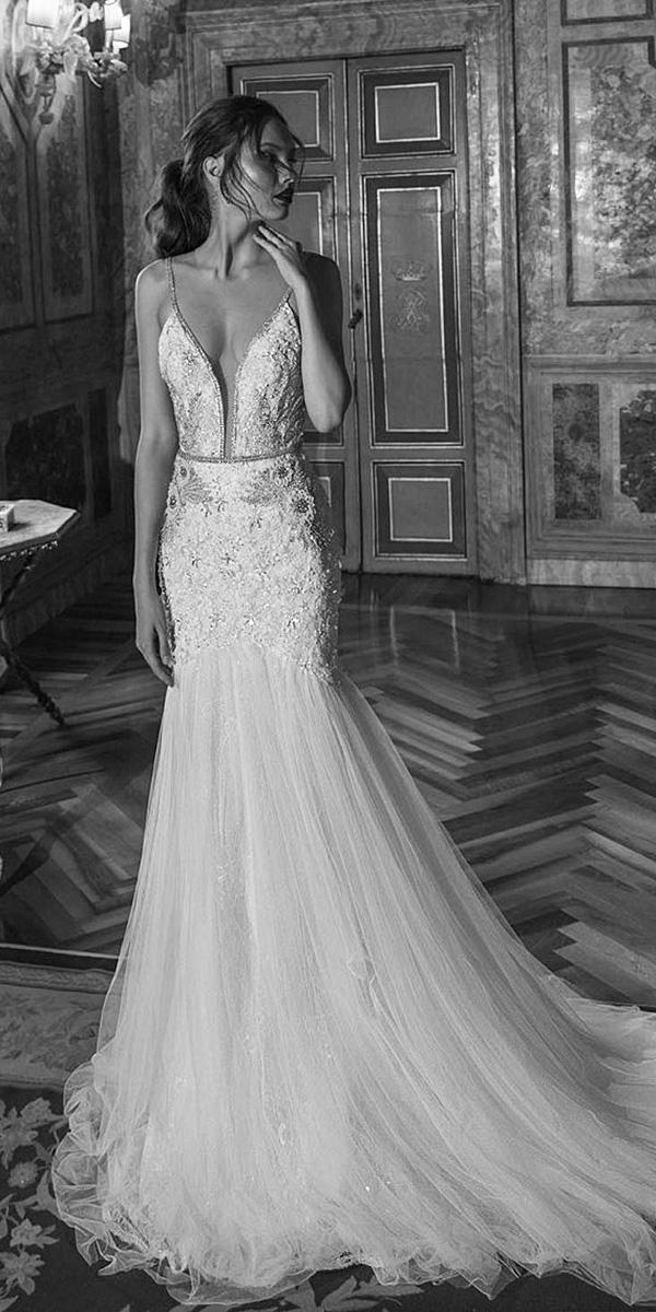 birenzweig wedding dresses mermaid with spaghetti straps 2018