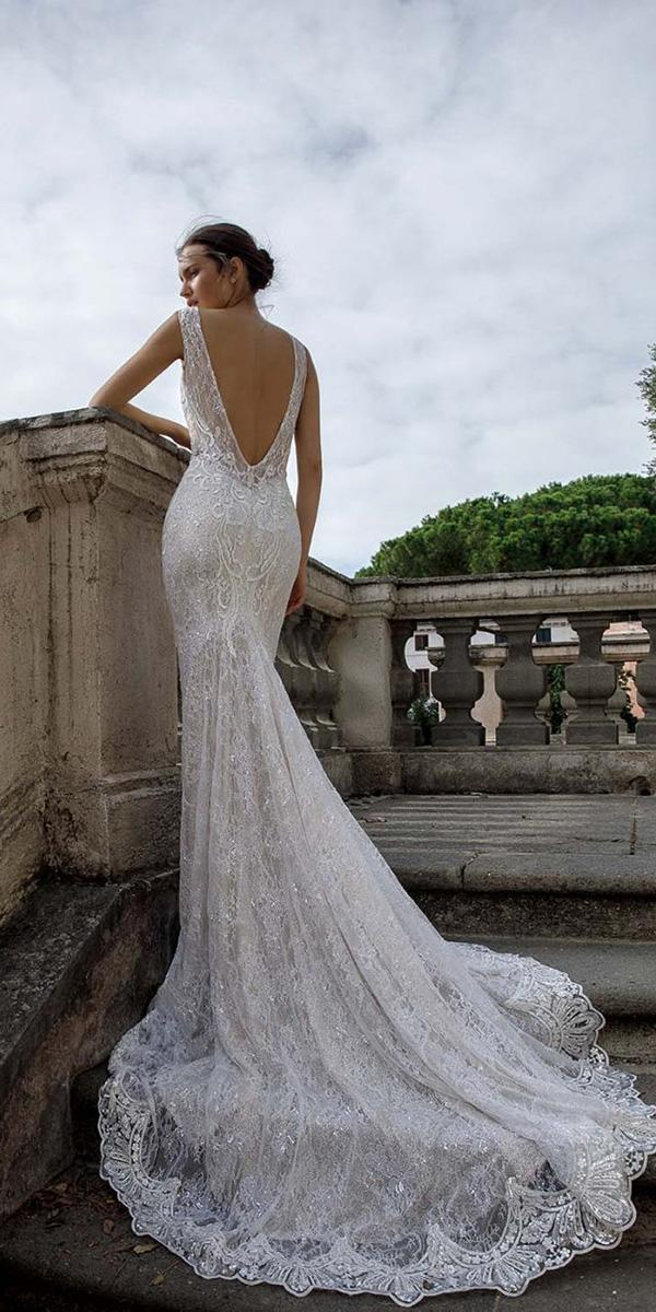 birenzweig wedding dresses trumpet v back full lace 2018