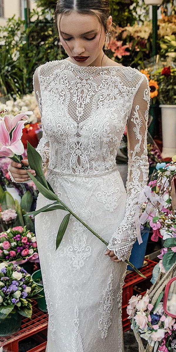 birenzweig wedding dresses with long sleeves full unique lace details