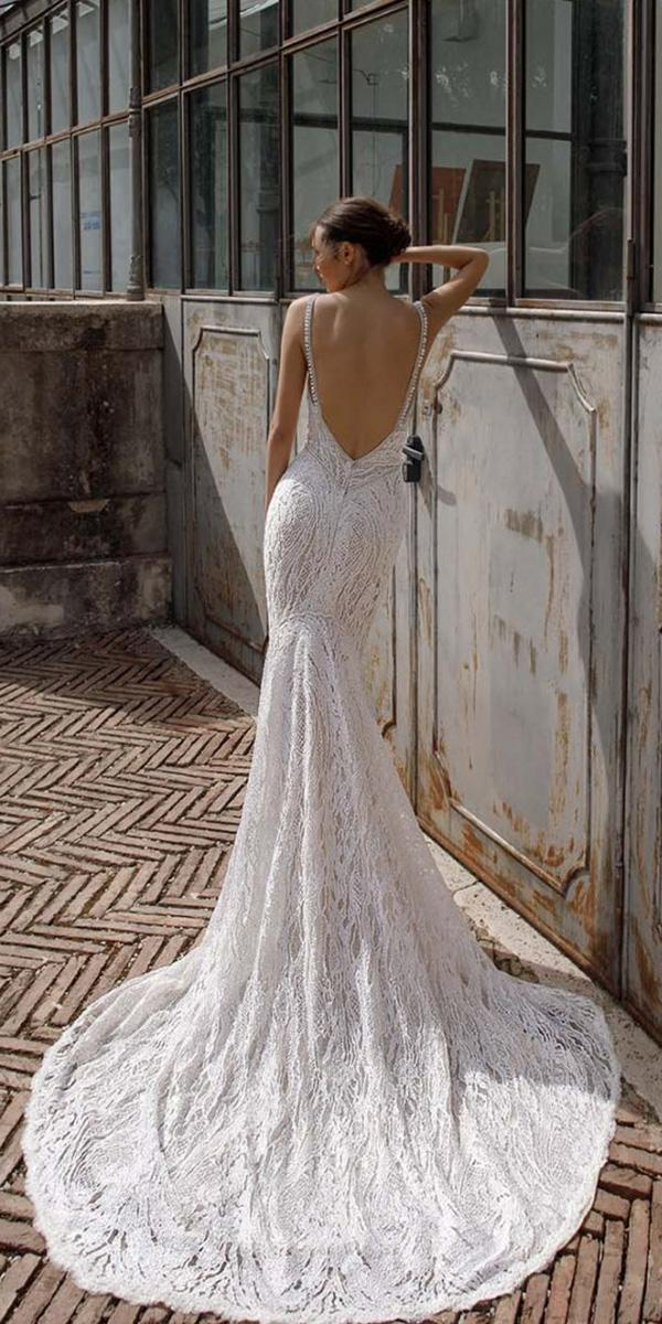 birenzweig wedding dresses with spaghetti straps low back beach sexy 2018