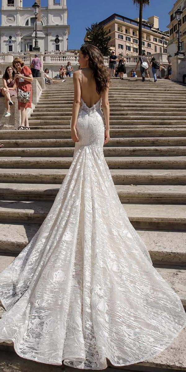 birenzweig wedding dresses with spaghetti straps low back train 2018