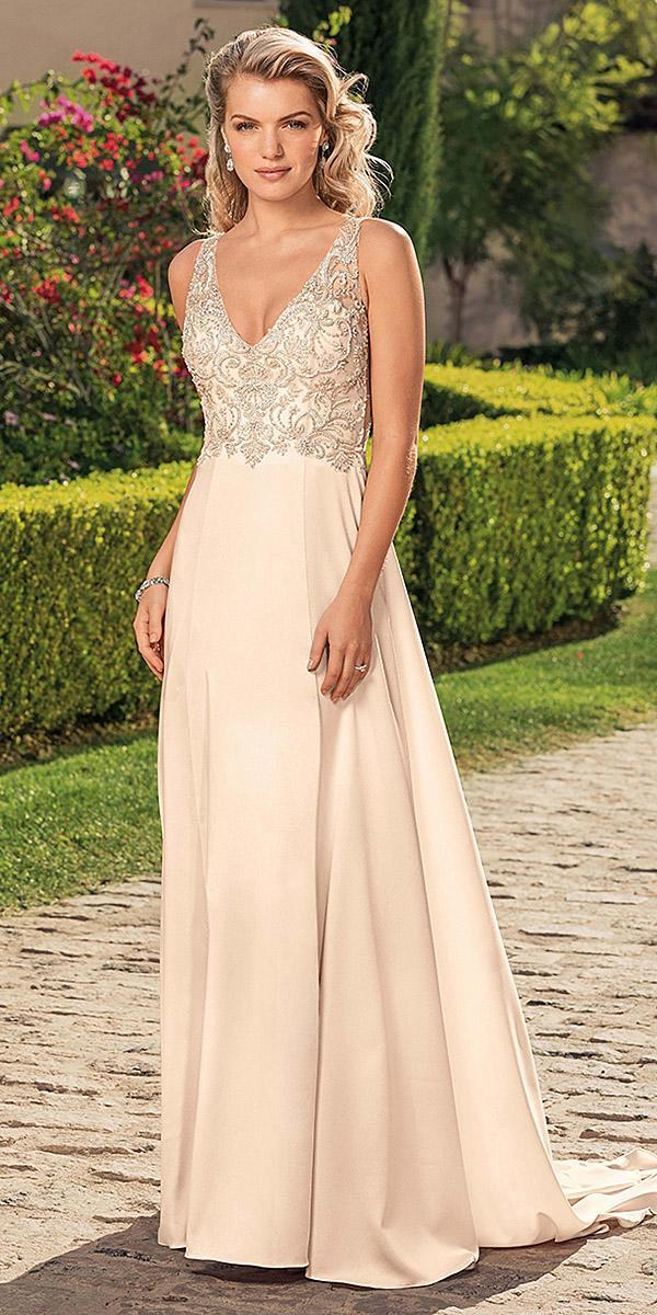 casablanca bridal wedding dresses a line v neckline beaded top ivory 2018