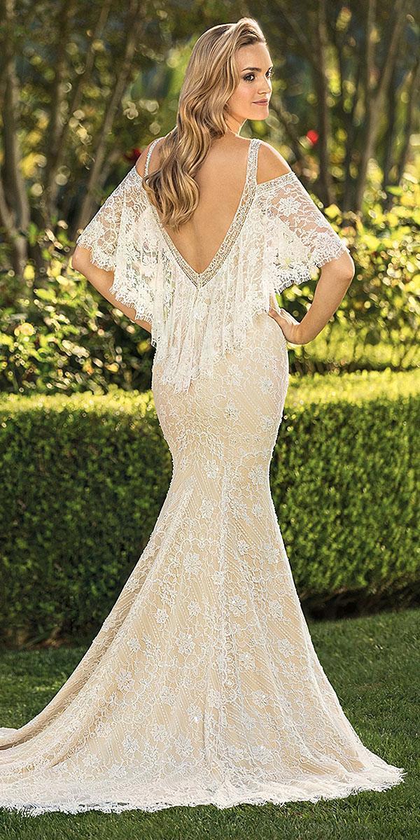 casablanca bridal wedding dresses fit and flare v back ivory 2018