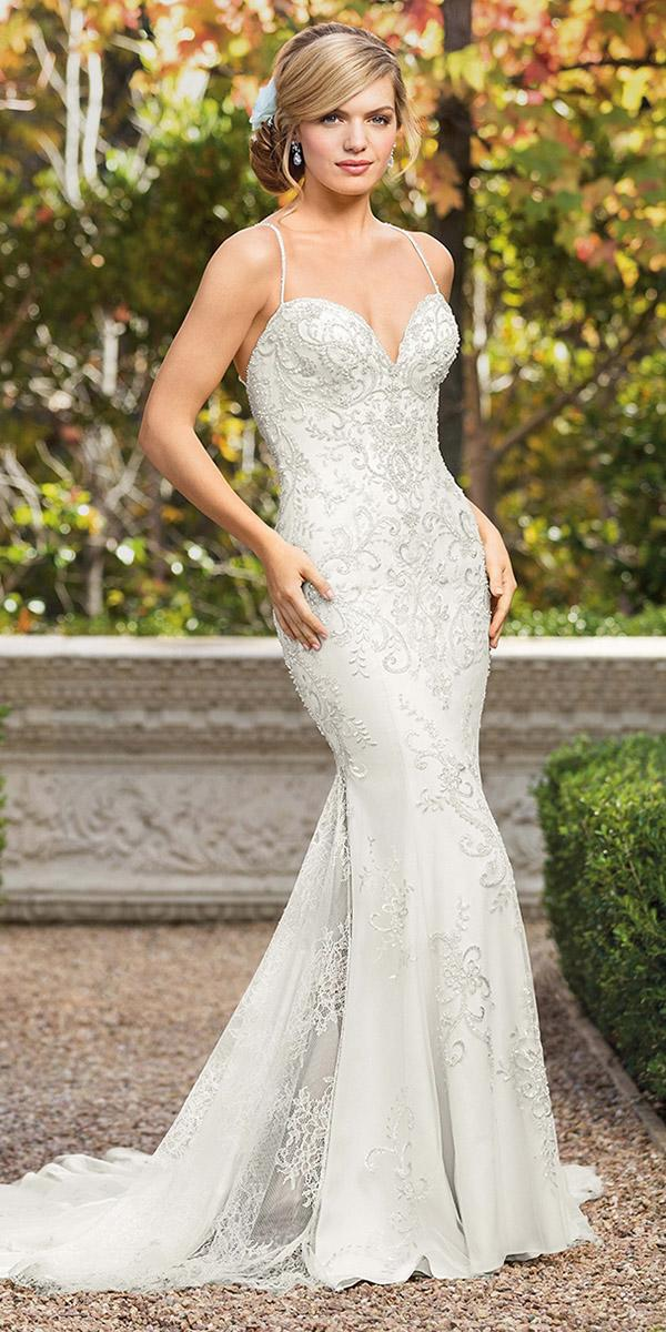 casablanca bridal wedding dresses fit and flare with straps jeweled sweetheart