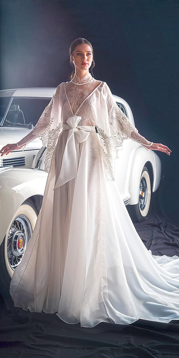 dany mizrachi fall 2018 wedding dresses trendy with cape bow simple