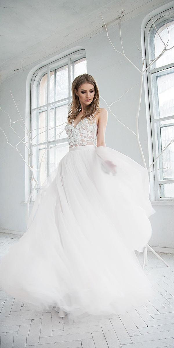 hofla wedding dresses a line romantic floral top 2019