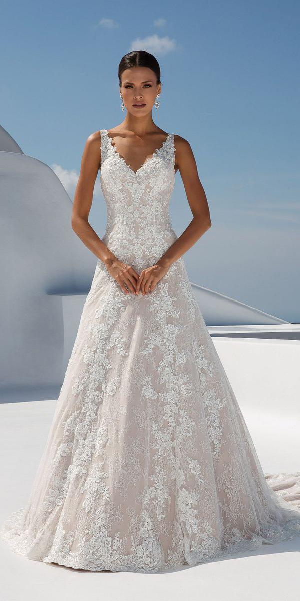 justin alexander wedding dresses a line v neckline lace 2018