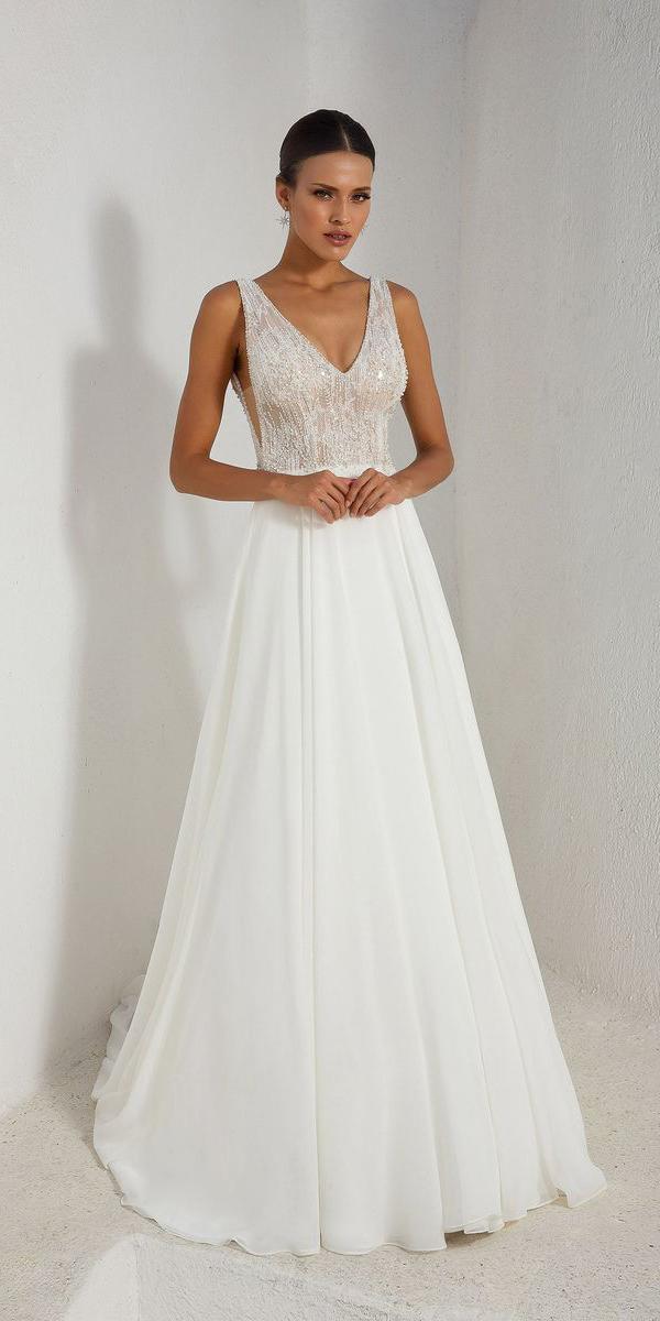 justin alexander wedding dresses a line v neckline sequins top 2018