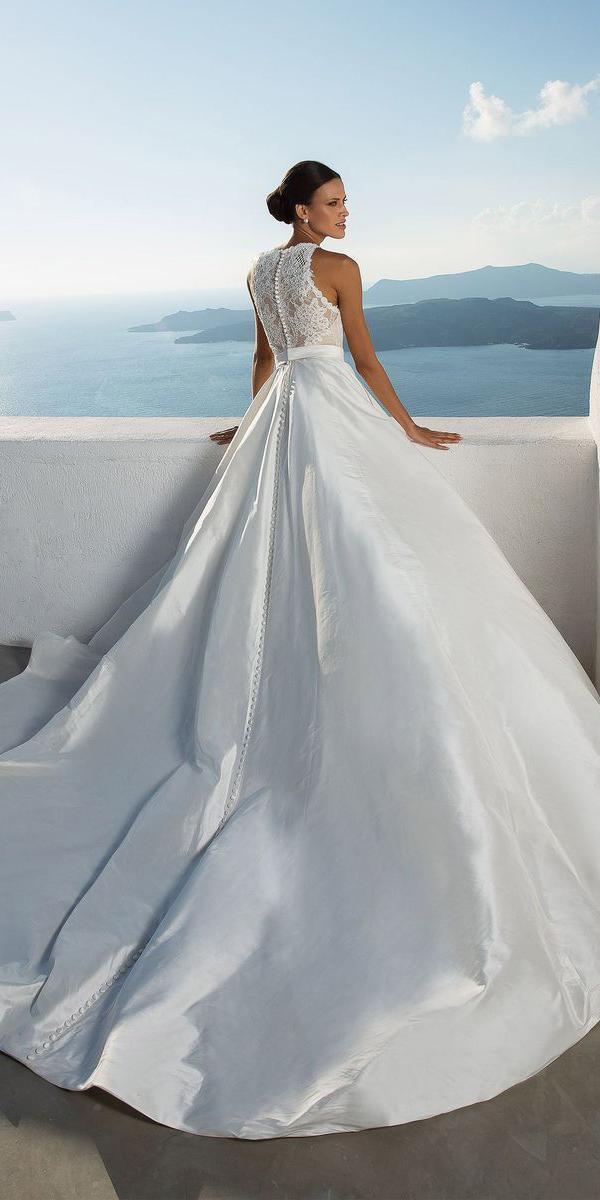 justin alexander wedding dresses ball gown lace back silk 2018
