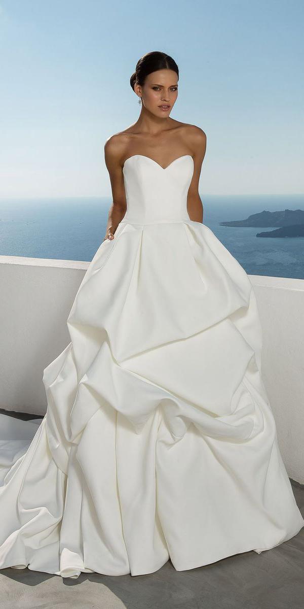 justin alexander wedding dresses ball gown sweetheart pick up skirt 2018
