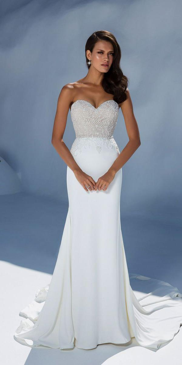 justin alexander wedding dresses fit and flare sweetheart strapless beaded top
