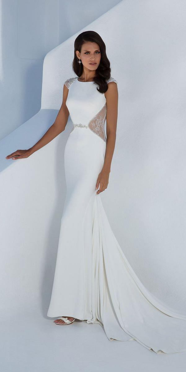 justin alexander wedding dresses fit and flare with cap sleeves elegant 2018