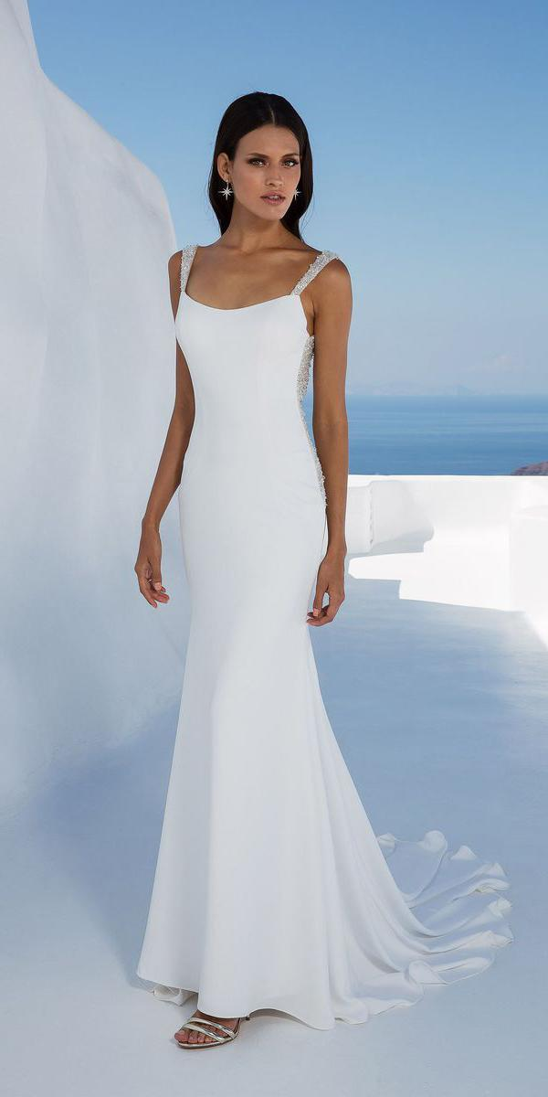 justin alexander wedding dresses fit and flare with straps beaded details