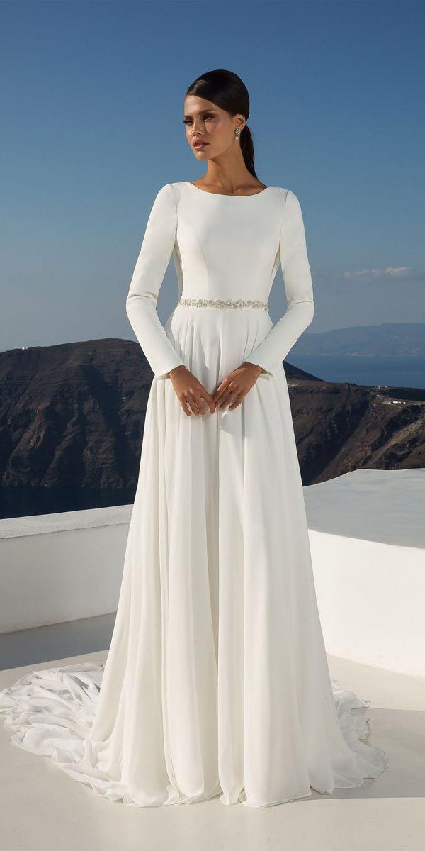 justin alexander wedding dresses with long sleeves simple 2018