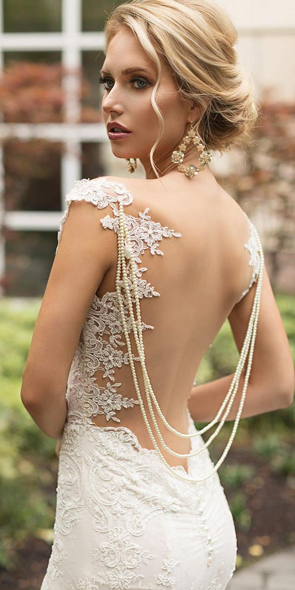 naama and anat wedding dresses 2019 illusion back with lace embellishment details